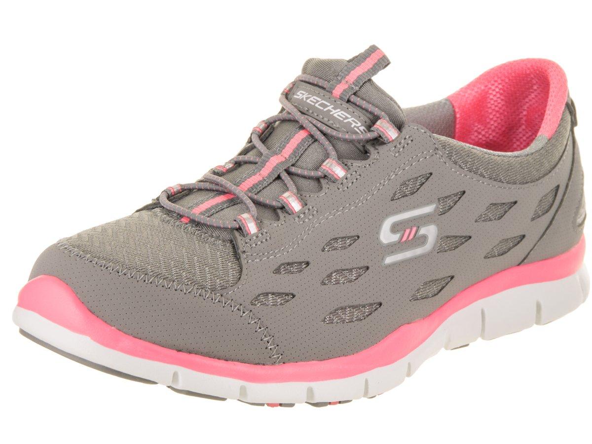 Skechers Sport Women's Gratis Bungee Fashion Sneaker B074NKXL58 8 C US|Gray/Pink