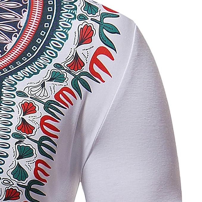 Cinnamou Camisa de Polo de Moda de Manga Corta de Estilo Africano de los Hombres Camiseta Hombre con Cuello de Solapa Polo Tops y Blusa: Amazon.es: Ropa y ...