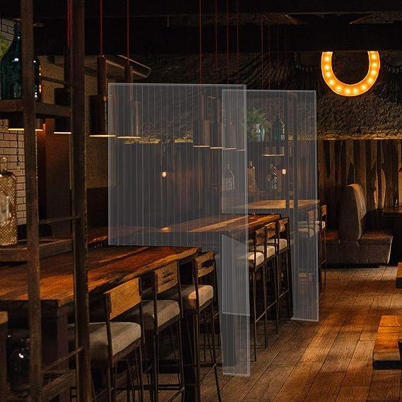 bares hosteleria 100x150cm separador para restaurantes Mampara de protecci/ón