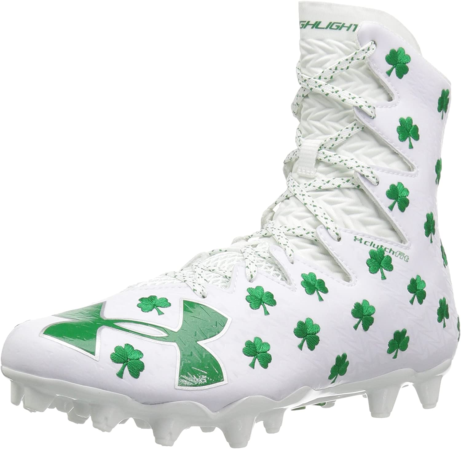 UA Under Armour 1297354 Highlight MC Lobster Lacrosse Football Cleats White Mens
