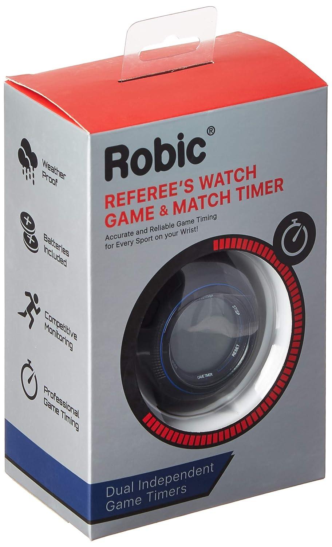 Amazon.com: Robic 591 – 48319 sc-591 árbitros reloj, negro ...