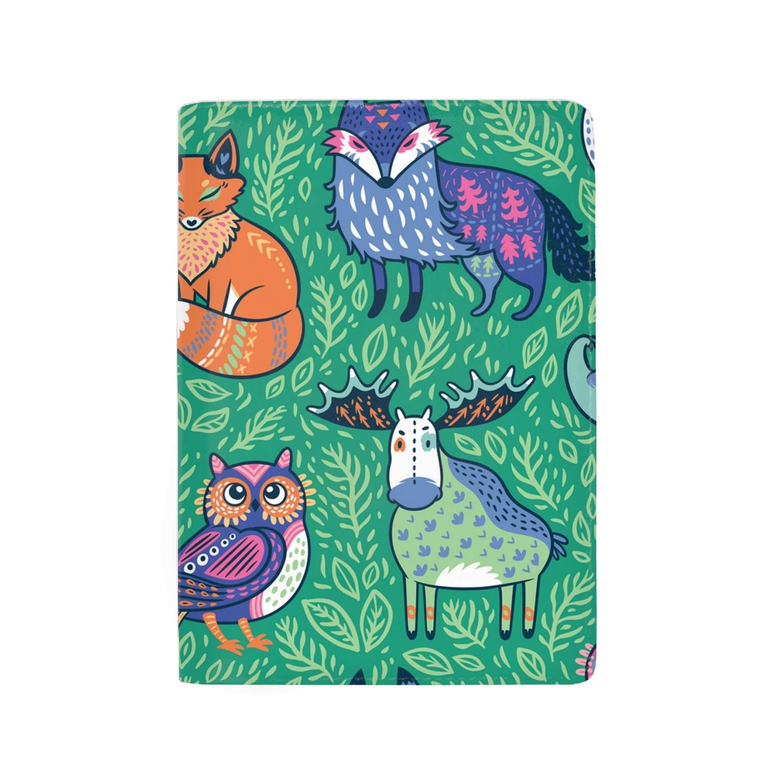 Squirrels In The Trees Leather Print Passport Holder Cover Case For Men Women