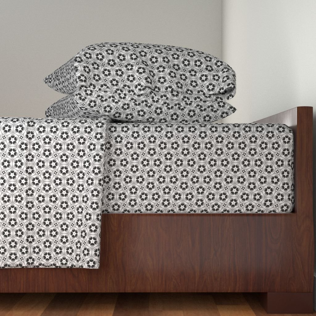 Roostery Synergy0009 3pc Sheet Set 02446711 : Film Reels S43x : Grey by Sef Twin Sheet Set made with
