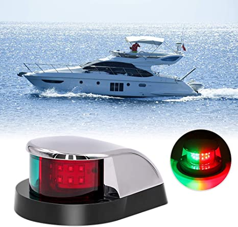 Pactrade Marine Boat Pontoon Boat Canoe Battery Operated Navigation Light 3 Pcs