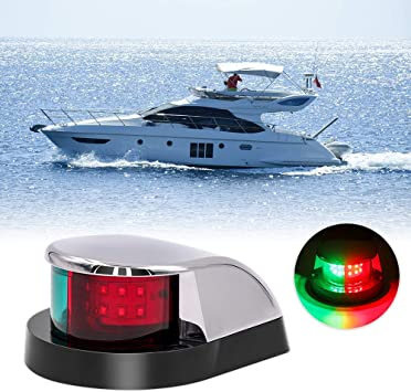 Obcursco Boat Navigation Light, Marine LED Navigation Light, Boat LED Bow Light. Ideal for Pontoon, Skiff, and Small Boat