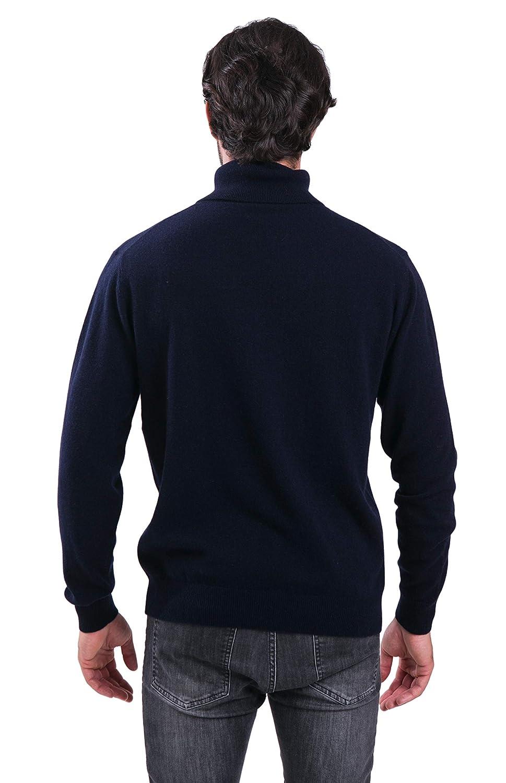 Pullover da Uomo con Collo Rotondo in 100/% Cashmere