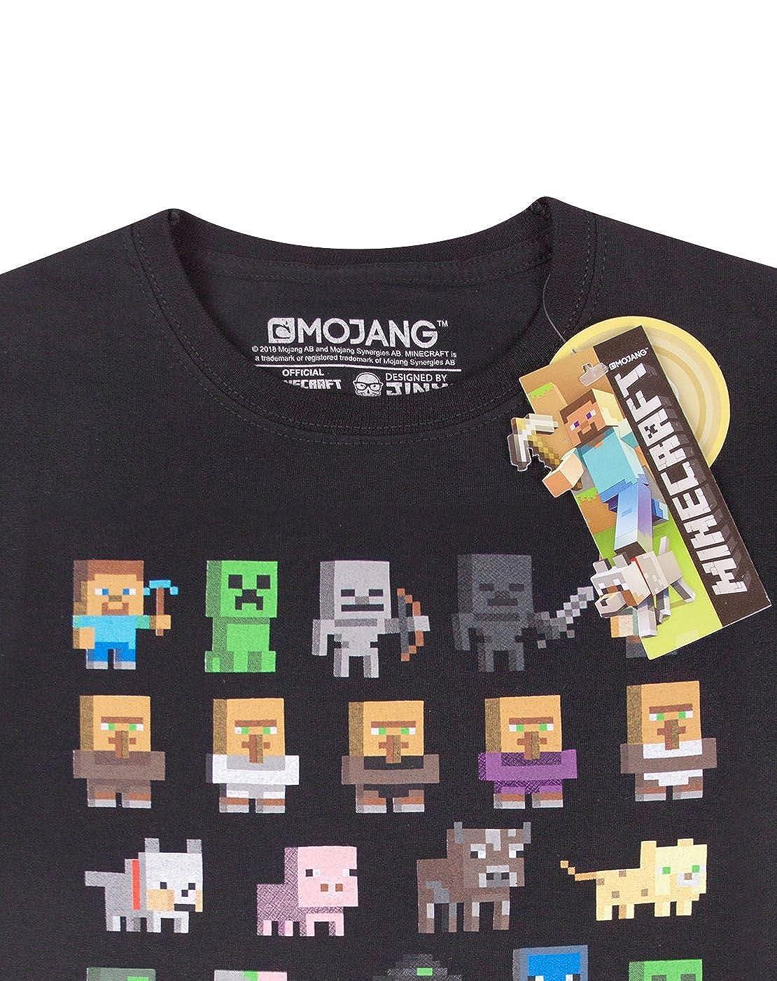 Minecraft Camiseta para niño  Amazon.es  Ropa y accesorios a2a1b790795c7