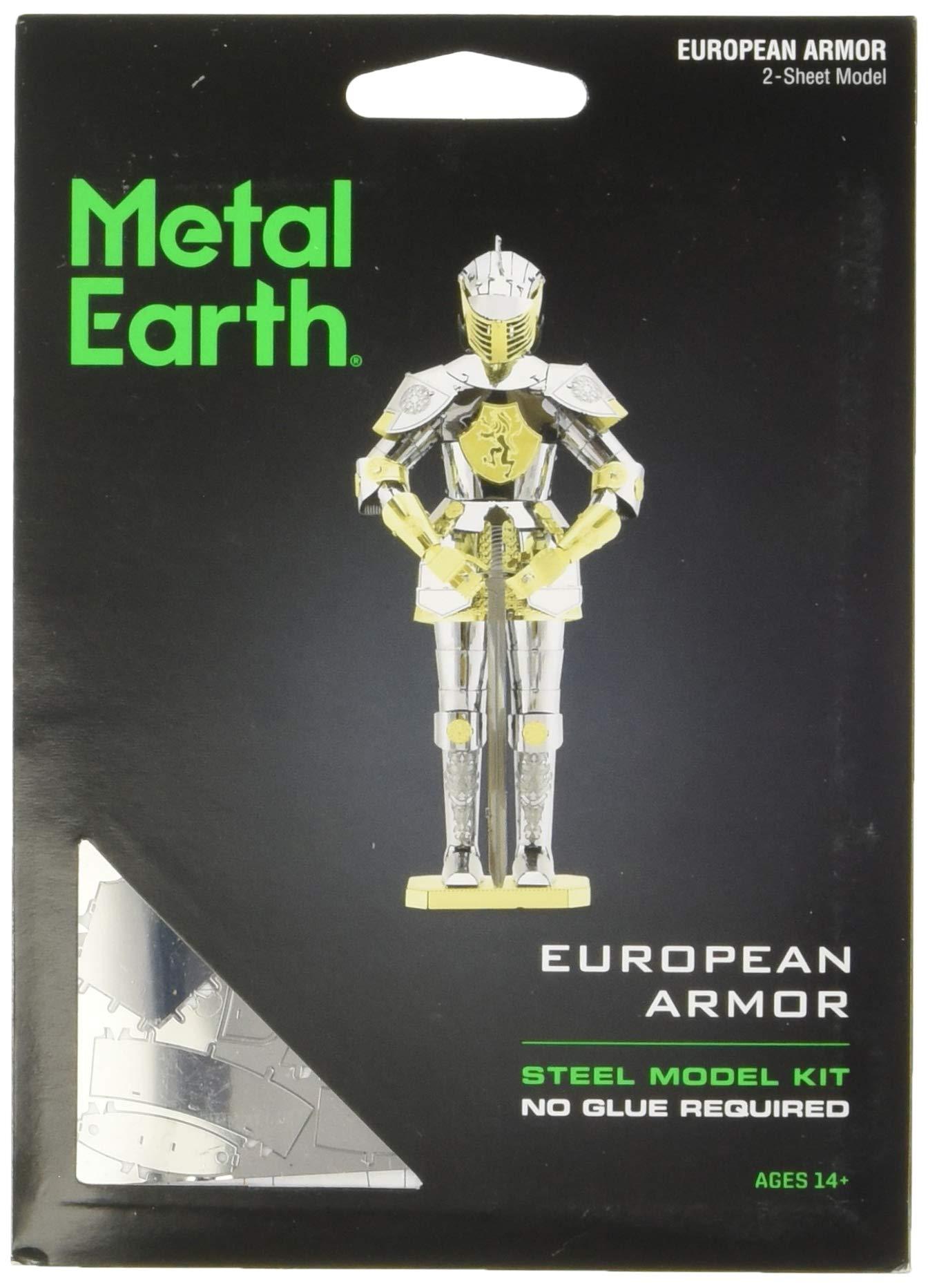 Fascinations Metal Earth European Knight Armor 3D Metal Model Kit