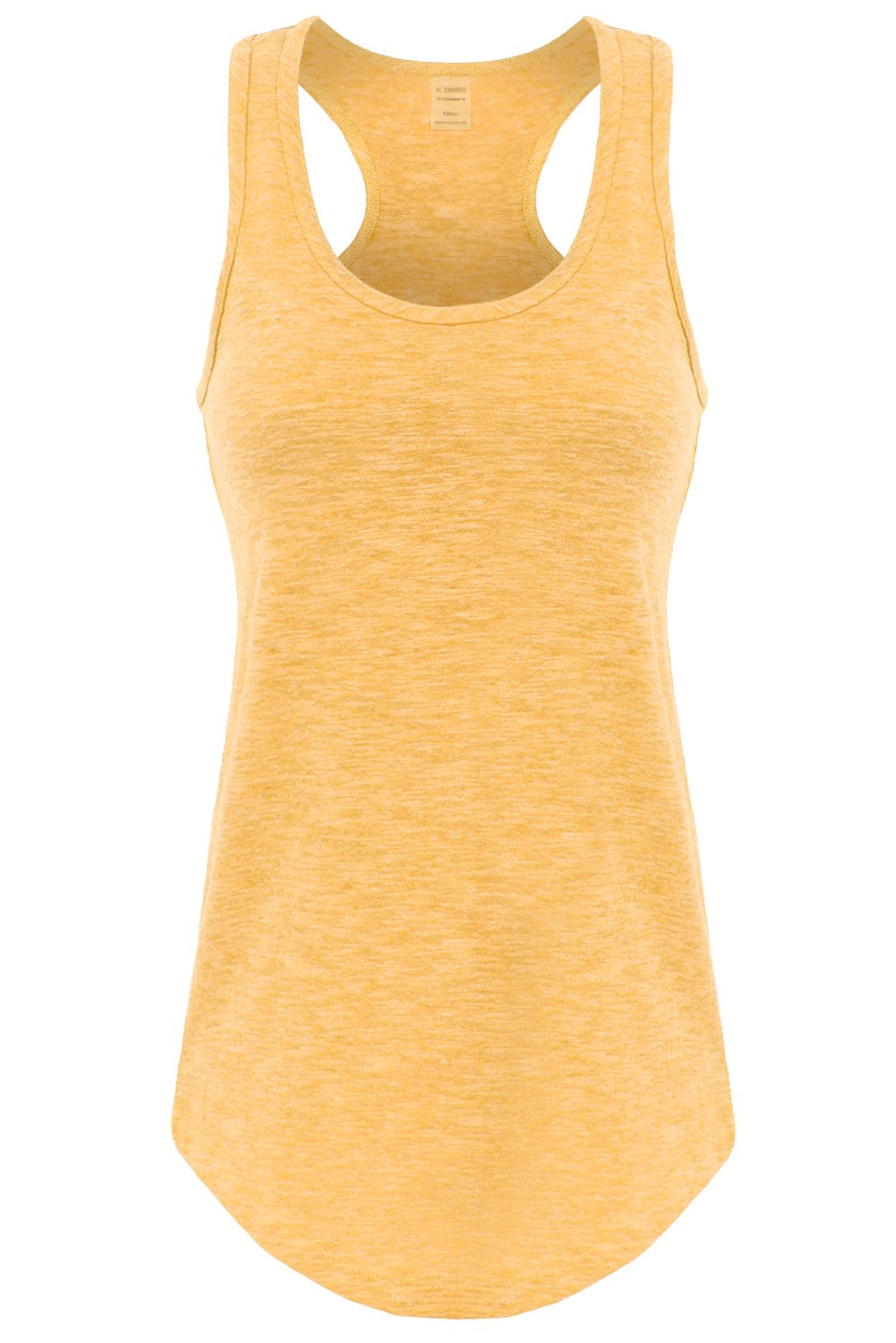 JC DISTRO Women's Basic Jersey Racer-Back Tank Top with Scallop Bottom