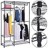 Safstar Portable Clothes Wardrobe Garment Rack Home Closet Hanger Storage Organizer