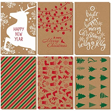36 pcs merry christmas cards happy new year cards holiday cards greeting card gift cards bulk