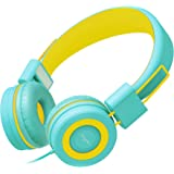 Elecder i37 Kids Headphones for Children Girls Boys Teens Foldable Adjustable On Ear Headphones with 3.5mm Jack for iPad Cellphones Computer MP3/4 Kindle Airplane School
