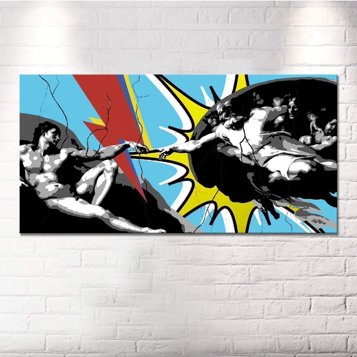 Quadro Batman Dipinto A Mano Su Tela Quadri Moderni Pop Art Cinema Per Salone In