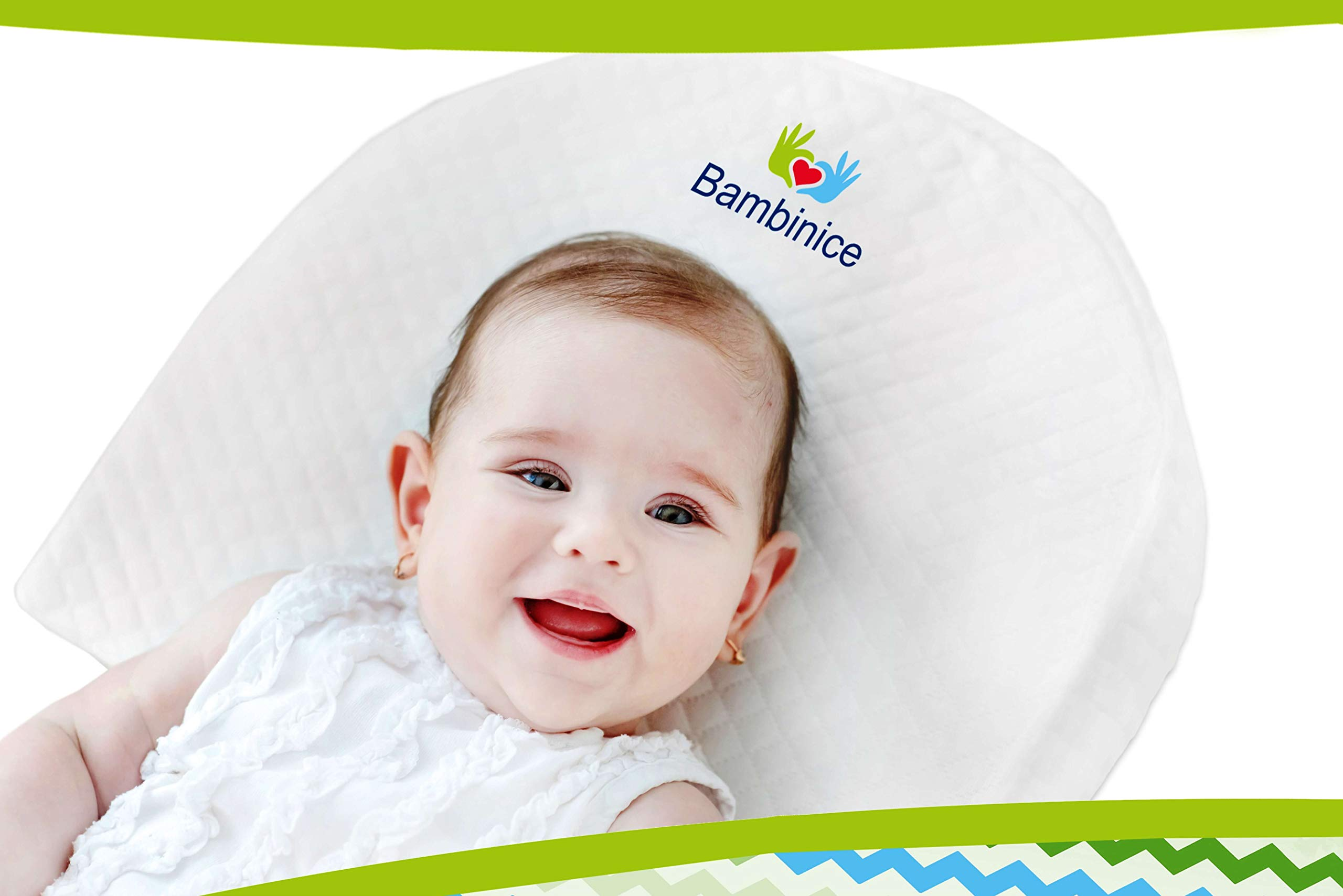 Bambinice Universal Bassinet Wedge - Infant Crib Pillow - Waterproof Changing Pad Liner - Portable Incline Cushion - Newborn Reflux and Nasal Congestion Reducer - Ebook - Perfect Baby Shower Gift