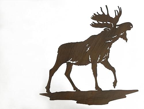 Everydecor Moose Silhouette Metal Wall Decor