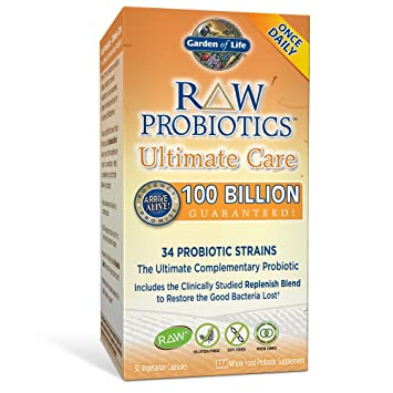 Amazoncom Garden of Life Whole Food Probiotic Supplement Raw