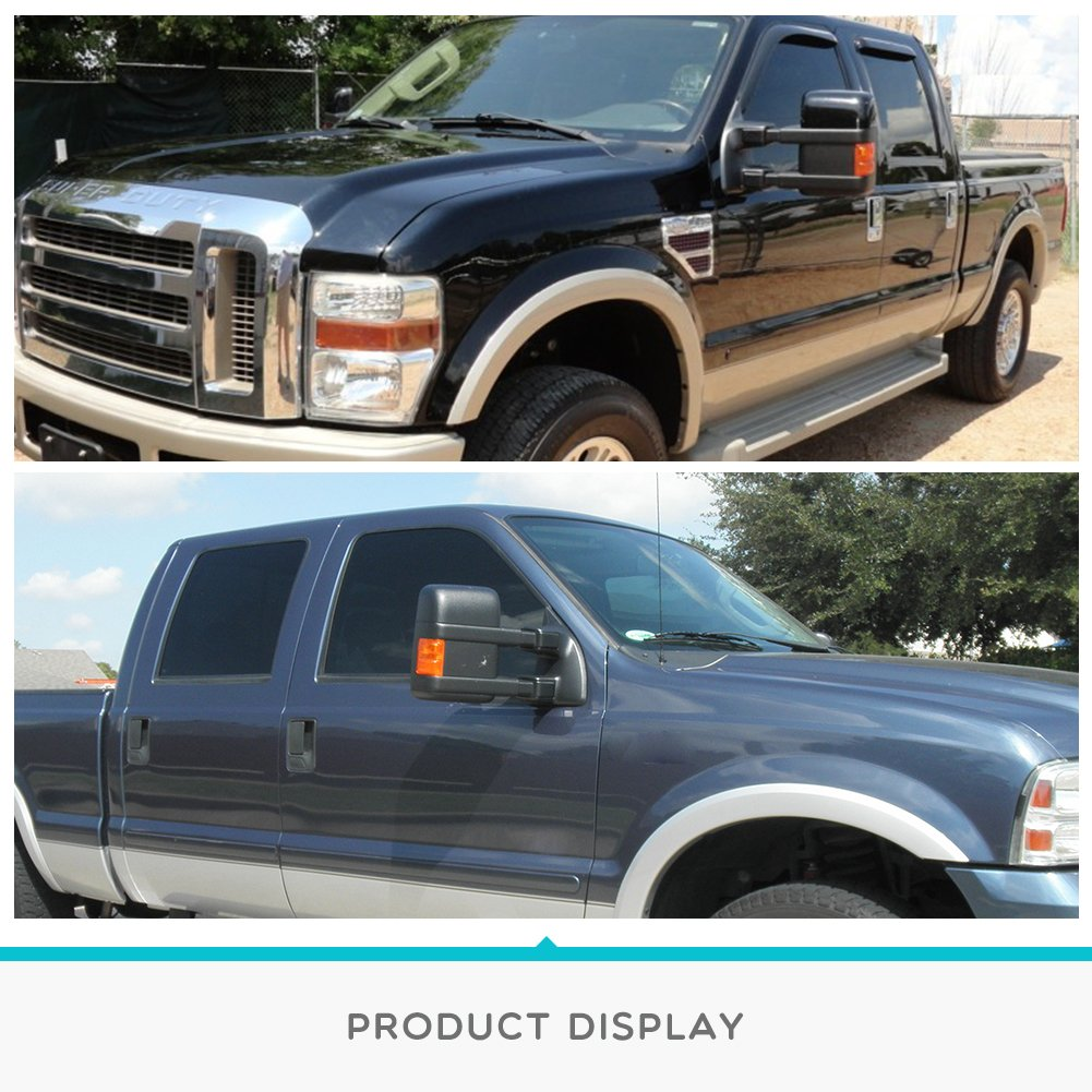 YITAMOTOR Towing Mirrors Compatible for Ford 1999-2007 Ford F250 F350 F450 F550 Super Duty Tow Mirrors Power Heated with Turn Signal Light Side Mirrors 1999 2000 2001 2002 2003 2004 2005 2006 2007 by YITAMOTOR (Image #6)