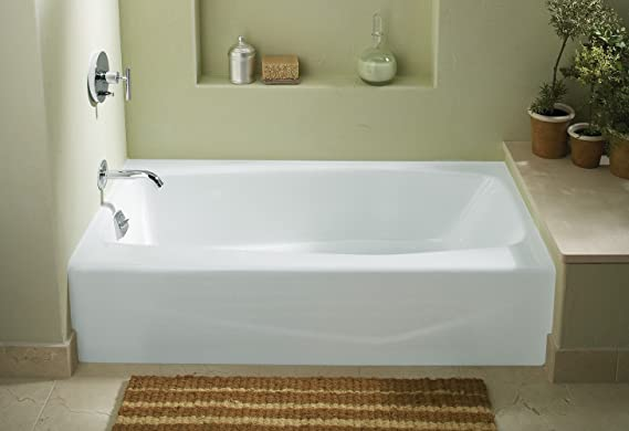 Villager Alcove Bathtub With Integral Apron And Left Hand Drain
