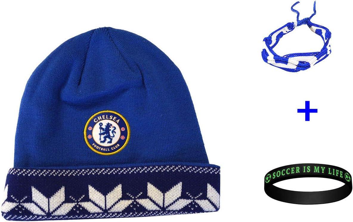 Chelsea FC サッカービーニースカルキャップハット+ブレスレット2個セット 3個入り CHEL006