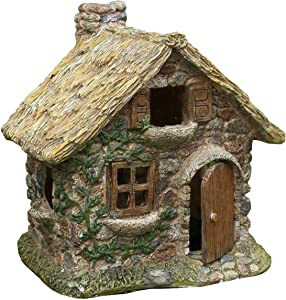 TG,LLC Treasure Gurus Miniature Stone House Elf Home Fairy Garden Accessory Dollhouse Decor Ornament