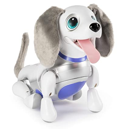 amazon com zoomer playful pup responsive robotic dog with voice