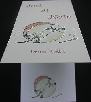 """Redoble """"una nota"""" gato Musical libreta"""