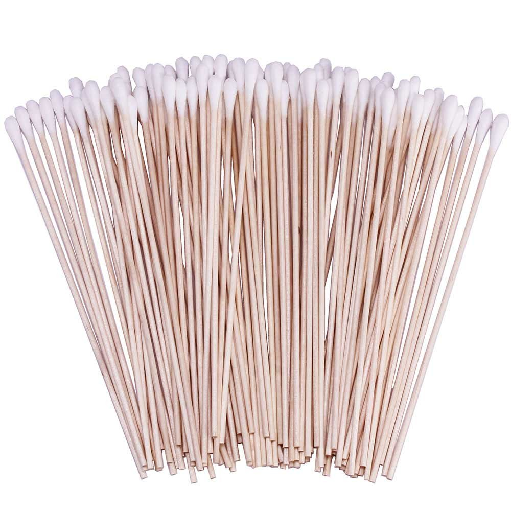 200 Count 4 Pointed Cotton Swabs, Precision Microblading Cotton Tipped Applicator, Tattoo Permanent Supplies (2 Pack) BTYMS