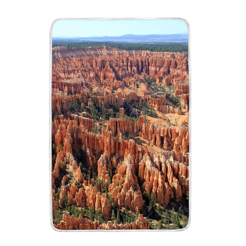 Ltgyth Desert モロッコ デューンサンドブランケット ソファ ベッド ソファ 椅子 昼寝 スーパーソフト 心地よく快適 ブランケット - 60 x 90インチ one size B07KXGPX2K Utah Bryce Canyon Beautifully6