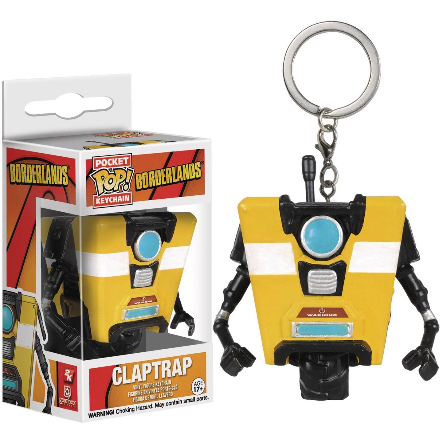Amazon.com: Claptrap: Pocket POP! x Borderlands Mini-Figure ...