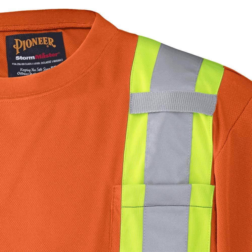 V1051150-XL Orange Pioneer Soft Moisture-Wicking High Visibility T Shirt Premium Birdseye XL