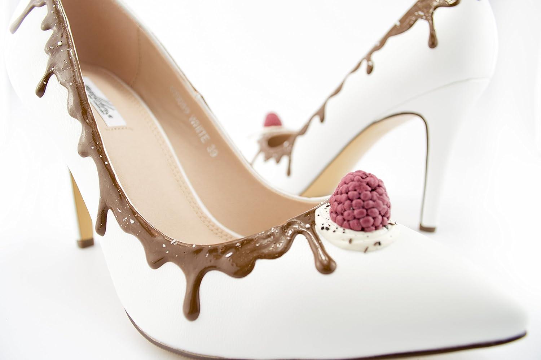 Madlchen Damen Pumps weiß weiß weiß Spitz SCHOKOBERRY Einzigartige Hochzeit oder Festschuhe 11660e