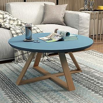 AGWa Muebles Mesa de centro redonda rústica de madera rústica para muebles, Mesa de centro moderna para cócteles Mesa de centro para sala de estar, Ahorre espacio Mesa pequeña para apartamentos (Colo: