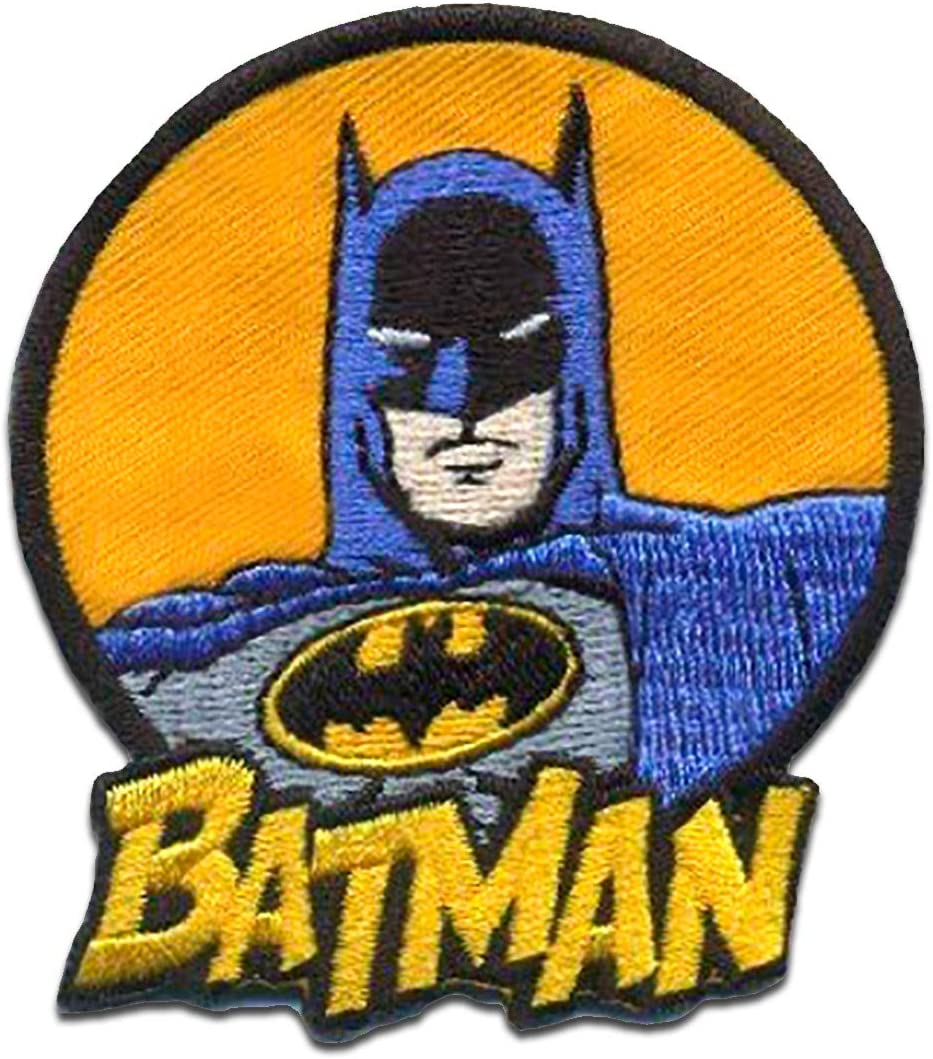 amarillo Batman capote 2 8,1 x 5,7 cm Parches termoadhesivos bordados aplique para ropa