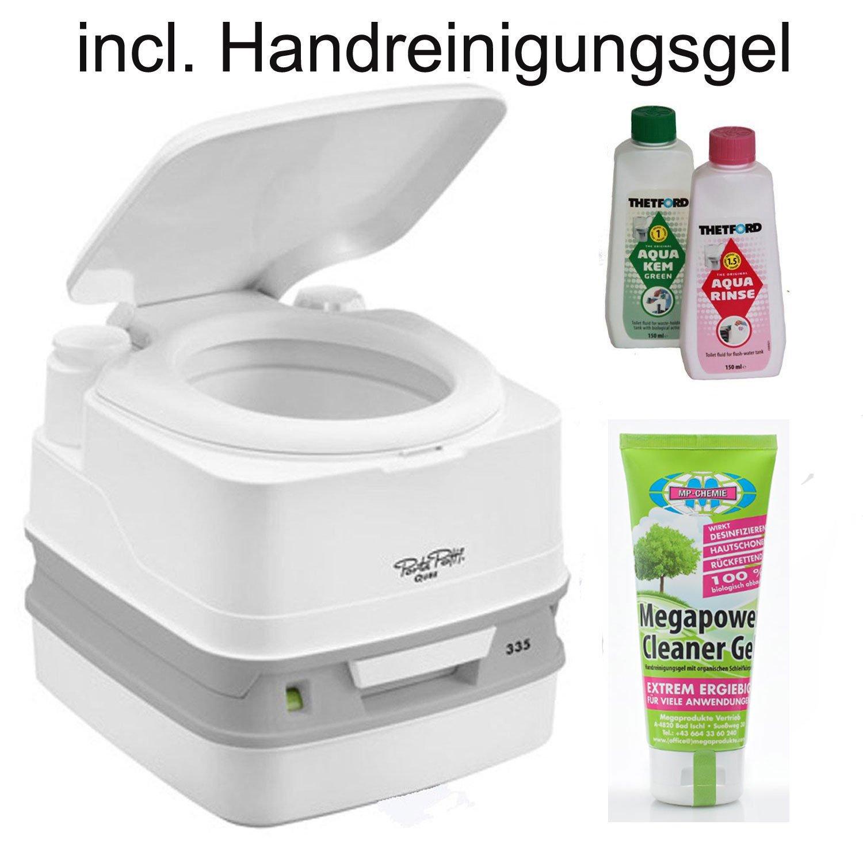 Thetford Tragbare Frischwassertoilette Porta Potti PP 335 von bootsshop in Bad Ischl incl. Handreinigungsgel 100 ml