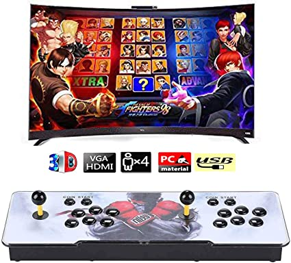 VEGAMED 3330 Games in 1 Arcade Game Console, Pandora's Box Double Stick,  3300 Arcade Game, Support Search Game, 3D Games, HDMI VGA USB PS, 1280X720  ...
