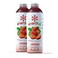 Smartfruit Summer Strawberry + Antioxidants, 100% Real Fruit Purée (Smoothie Mix) No Added Sugar, Non-GMO, No Additives, Vegan, Family Size 48 Fl. Oz