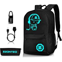 Luminous School Backpack,Horsky Anime Cartoon Music Boy Shoulder Laptop Travel Bag Daypack College Bookbag Night Light…