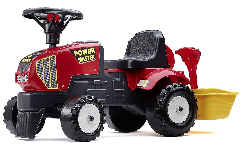 Falk Power Master 1013ein Rutscher Spielzeug Baby Traktor mit Eimer und Zubehör (rot) F1013A