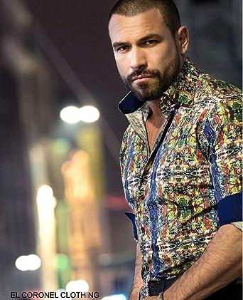 Rafael Amaya Luxury Collection Bursa Style Long Sleeve Button Down Designer Shirt At Amazon Men S Clothing Store