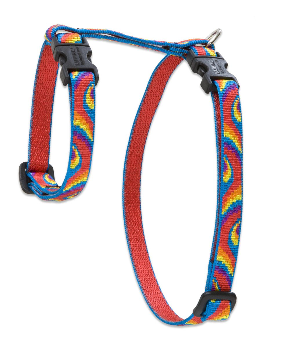 LupinePet Originals 1/2'' Lollipop 12-20'' H-style Harness for Small Pets