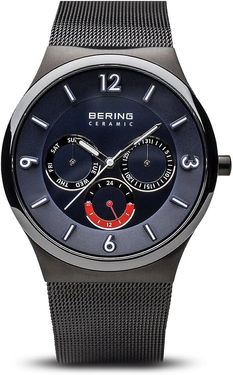 BERING Reloj Analógico para Hombre de Cuarzo con Correa en Acero Inoxidable 33440-227