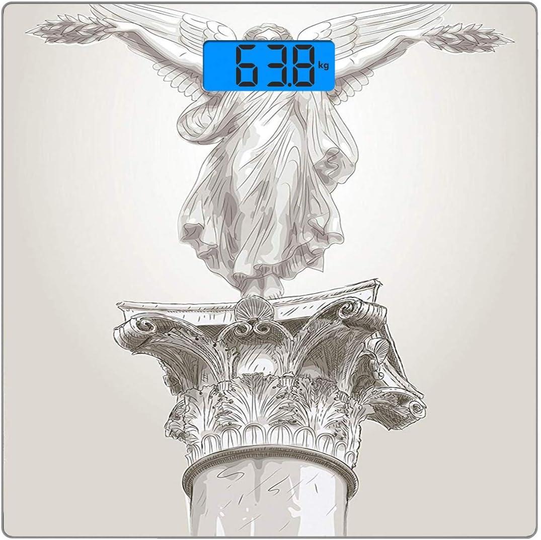 Cuadrado Básculas digitales de peso corporal ultradelgadas de ...