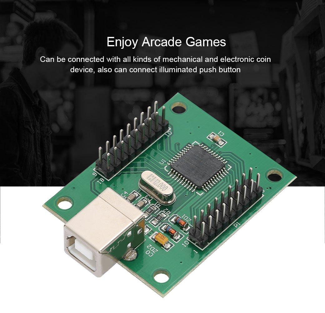 Vbestlife Kit de Cableado de Arcade a USB DIY Kit 2 Jugadores Arcade Stick Caja, Cable USB de Placa de Módulo de Codificador para PS3 / PC: Amazon.es: ...
