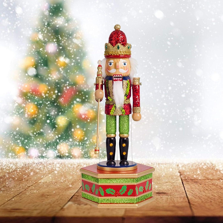 Casse Noisette Soldat De Noel Decoration Dubleir 32cm Casse Noisette en Bois Casse Noisette Figurine Batteur D/écorations Maison Cadeau Anniversaire No/ël F/ête pour Enfant Adulte