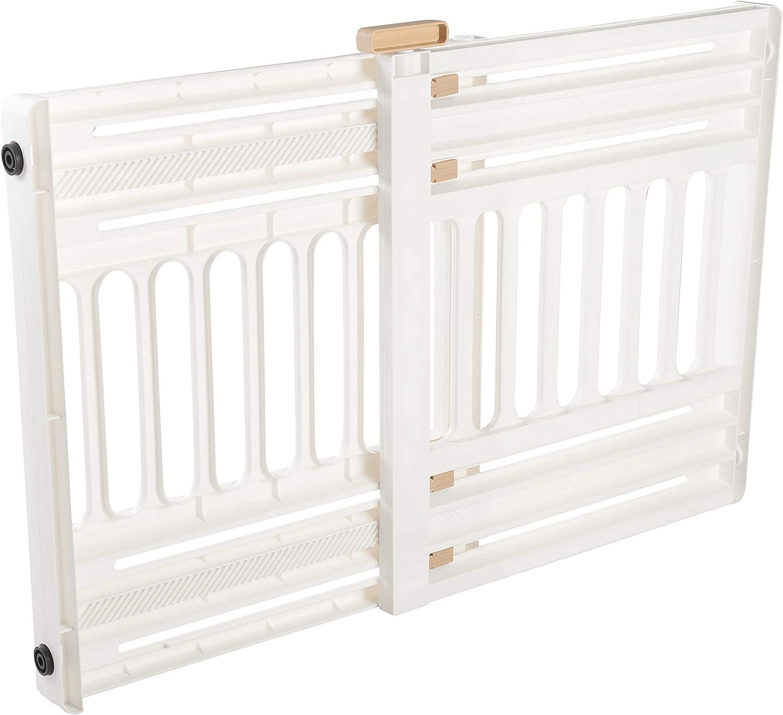 Iris Ohyama, barrera de seguridad para perros extensible hasta 100 cm Pet Barrier PBR 600, plástico, blanco/beige, 64 x 61 x 5 cm: Amazon.es: Juguetes y juegos