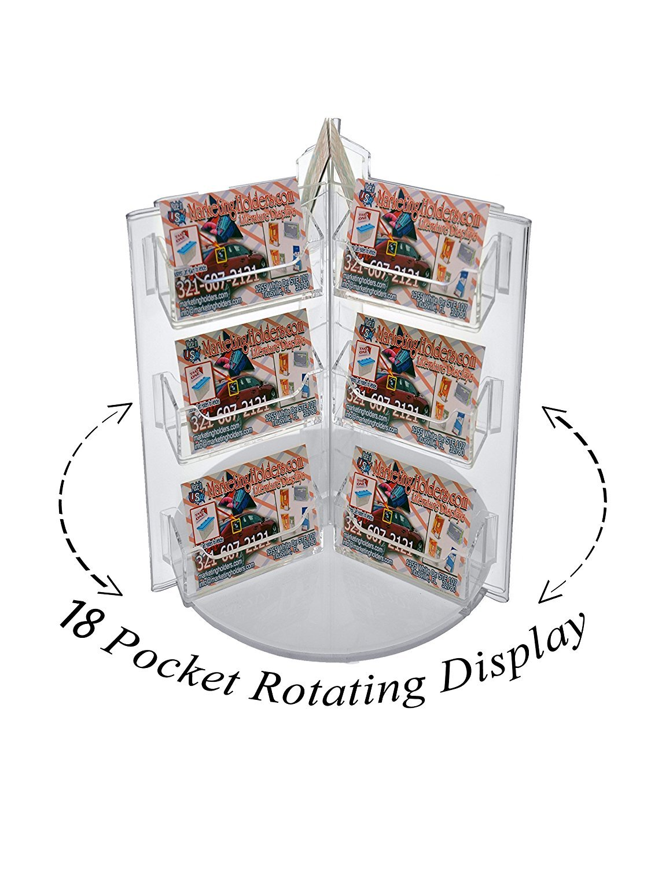 Marketing Holders 18 Pocket Rotating Business Card Holder Countertop Display (6, 18 Pocket)