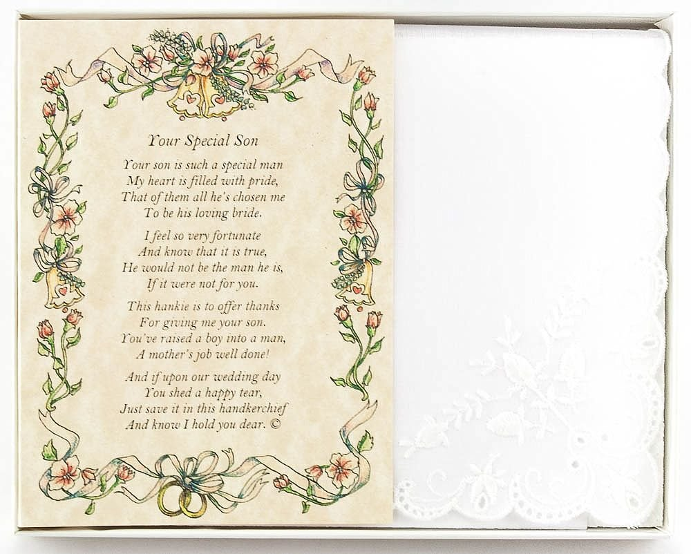 Amazon Wedding Collectibles Poetry Hankie From The Bride To Her Mother In Law Handkerchief Home Kitchen