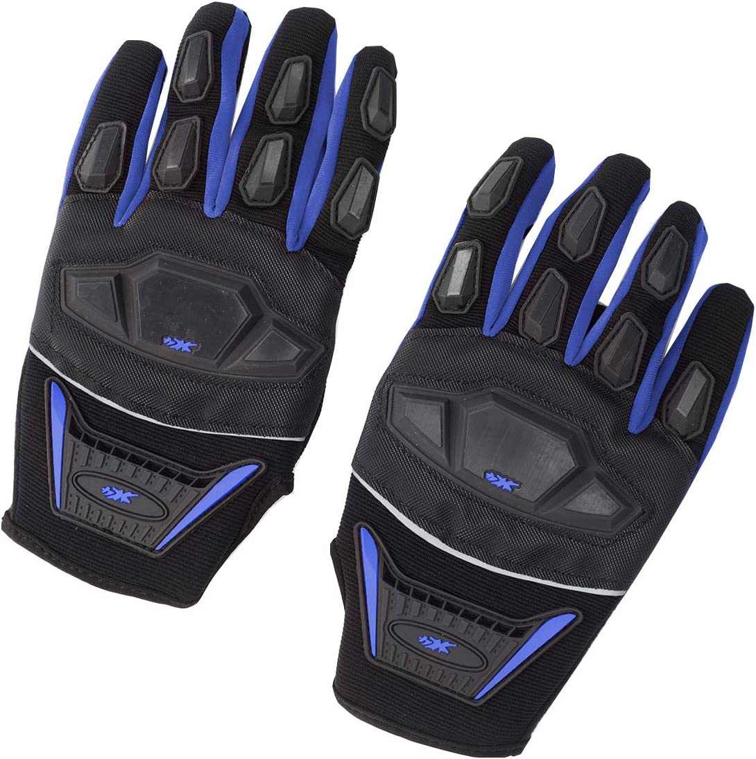 Black, S Street Bike Full Finger Motorcycle Gloves ATV Motocross Dirt Bike Off-Road Mountain Bike Gloves