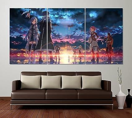 amazon com best print store sao sword art online set of 3