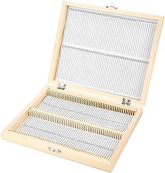 Caja de portaobjetos de laboratorio Stoarge Suministro de laboratorio Portaobjetos de microscopio Caja de madera con almacenamiento de bloqueo Almacenamiento de portaobjetos de vidrio